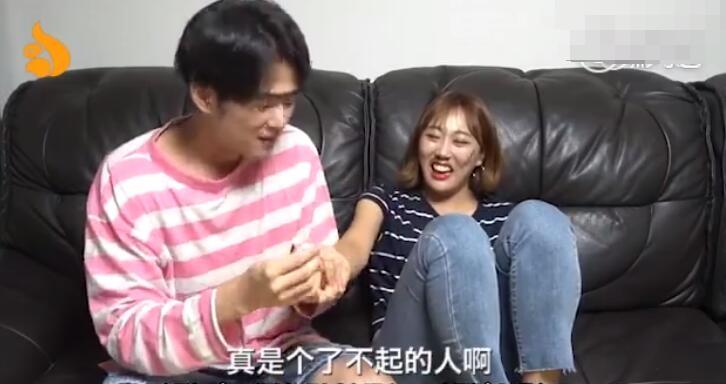 韩国网红情侣林拉拉ins 两人因为拍摄搞笑视频而走红