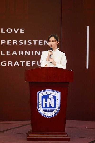 虎牙主播Miss受邀回母校演讲 给学弟学妹们分享成功心得