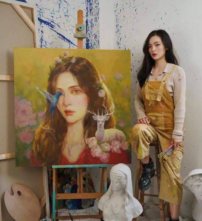 抖音赵小黎画的是什么画  这些画都是她自己画的吗